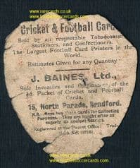1910 Sheffield water polo team card by Baines